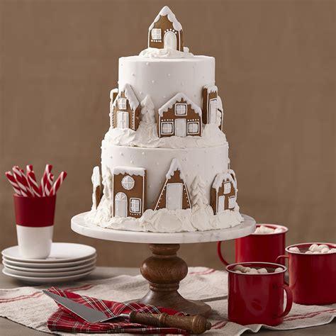 matured xmas cake designs snowy gingerbread cake wilton