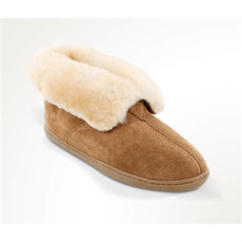 ladies house shoes women s minnetonka moccasin sheepskin ankle boot slippers 657748 slippers at