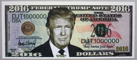 donald trump money usa donald trump fantasy paper money for president 2016