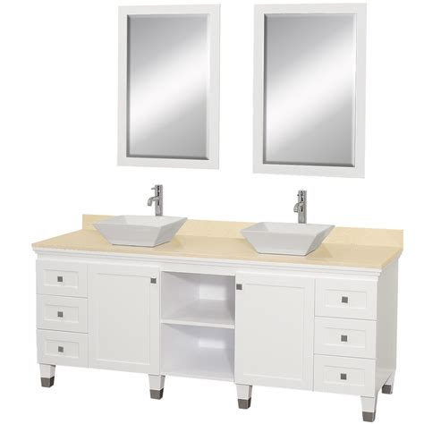 60 inch bathroom vanity single sink white decosee