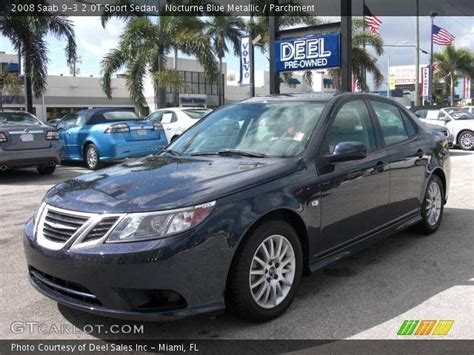 nocturne blue metallic 2008 saab 9 3 2 0t sport sedan