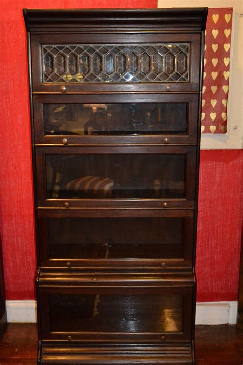 barrister bookcase leaded glass mahogany barrister bookcase stacking bookcase by