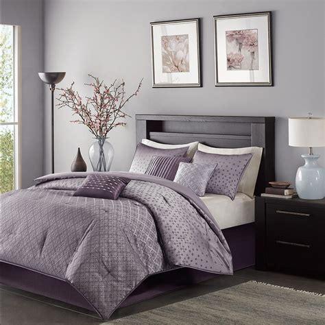 Modern Sets by Beautiful Modern Contemporary Stripe Purple Grey Comforter