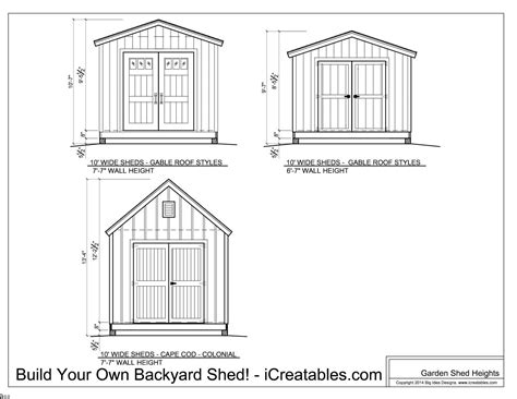 shed plans heights find out how your shed will be