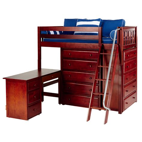 high loft bed with desk emperor high loft bed with chest and desk