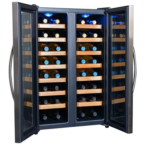 Wine Rack Cooler by Newair 32 Bottle Dual Zone Thermoelectric Wine Cooler Aw