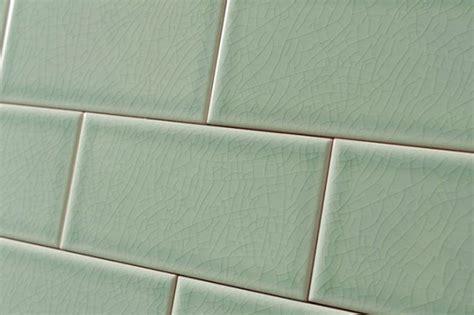 crackle glaze hyde park green subway wall tiles 7 5x15cm