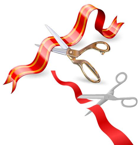 2 Ribbon Cutting Vector Graphic Graphic Hive Free Ribbon Cutting Template