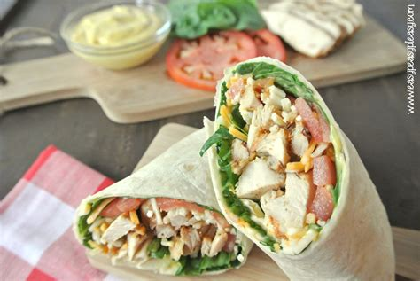 roll  picture perfect grilled chicken wrap easy