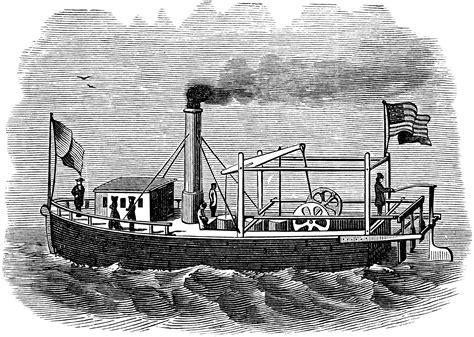 barco de vapor 1787 john fitch fitch s steamboat clipart etc