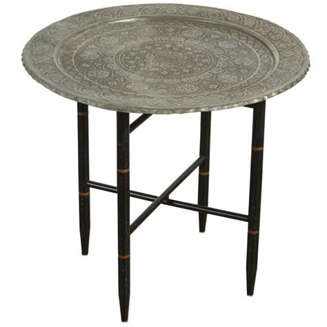 Tray Side Table by Antique Copper Tray Side Table For Sale At 1stdibs