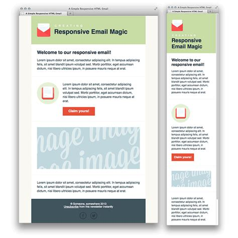 design html email newsletter creating a simple responsive html email
