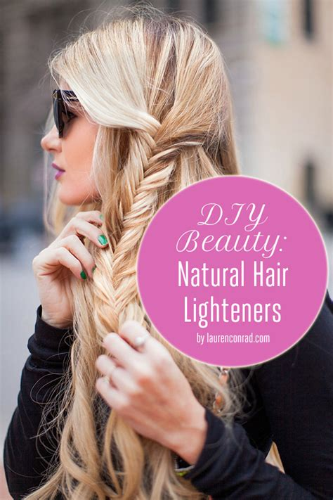 lighten you dyed black hair naturally beauty diy natural hair highlighters lauren conrad
