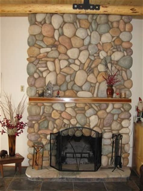River Rock Veneer Fireplace by River Rock Fireplace Yelp