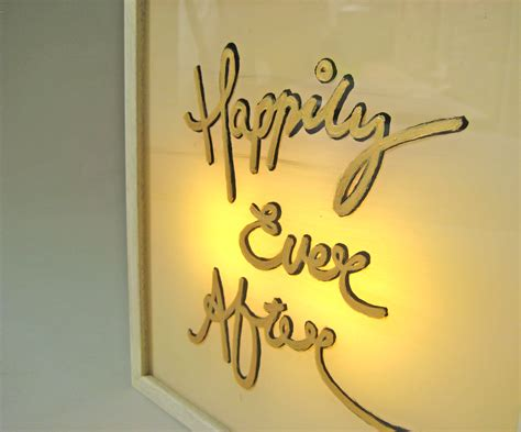 Wedding Quotes Light by Painted Gold Happily After Wedding Quotes