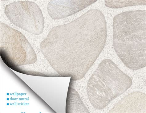 stick on wall paper stone brick contact paper