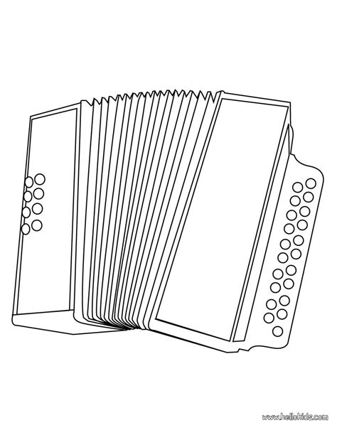irish instruments coloring page accordion coloring pages hellokids com