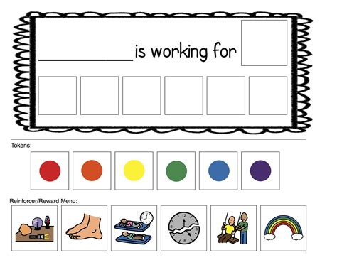 token board template printable token boards images