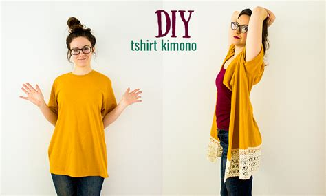 Tshirt Kimono Terbaru diy kimono from a t shirt no sew option kimonos diy clothes and clothes