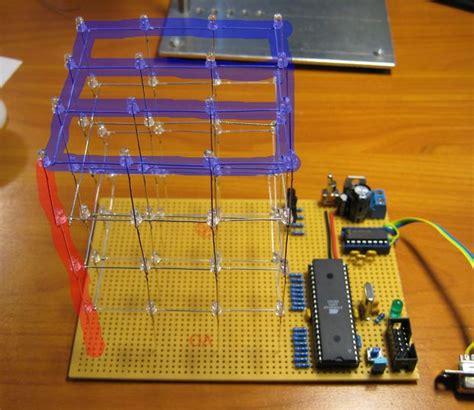 led multiplexing resistor led cube 4x4x4 all