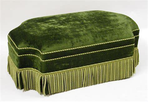 Green Velvet Ottoman Green Velvet Ottoman 1577954