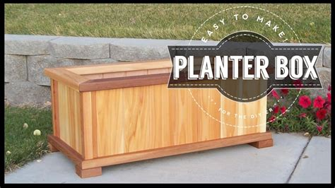 how to build a wooden planter box how to build a planter box diy easy to make