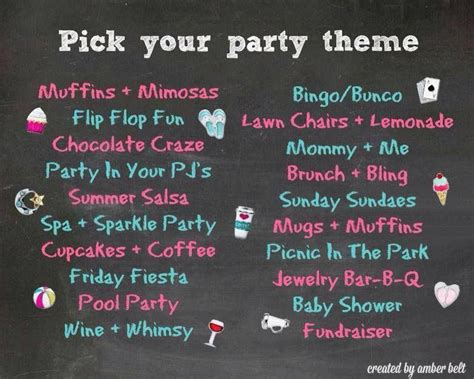 theme names for summer c origami owl party theme ideas www locketswithlori