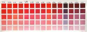 bill guffey color chart winsor red