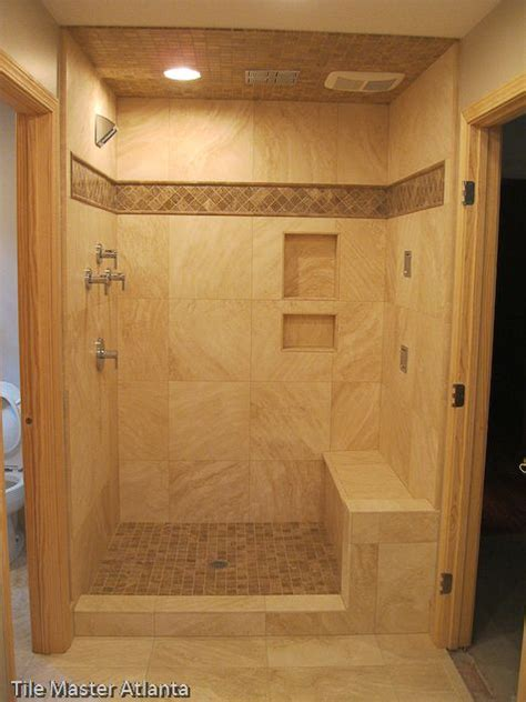 shower designs walk in tiled shower baths pinterest