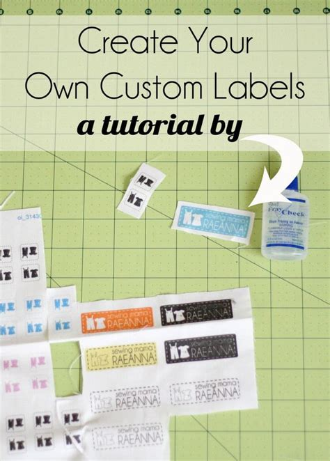 Make Your Own Label Template 25 best ideas about fabric labels on printer