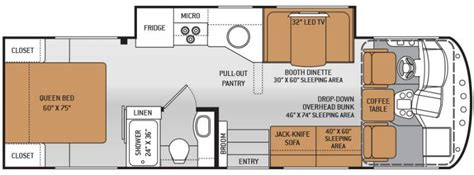 class a motorhome floor plans 2015 thor motor coach ace 29 2 class a gas lawrenceville