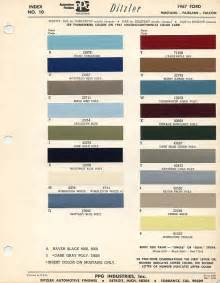 1967 ford mustang color chart with paint mixing codes