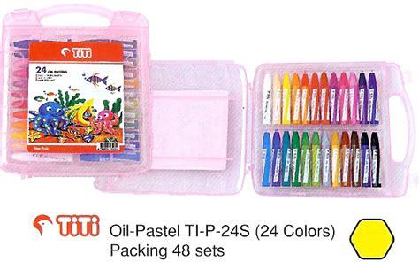Crayon Titi 48 Colours Krayon Titi 48 Warna Pastels Non Toxic jual alat tulis kantor murah surabaya 187 titi isi 24 pastel hexagonal 171 sarana sukses surabaya