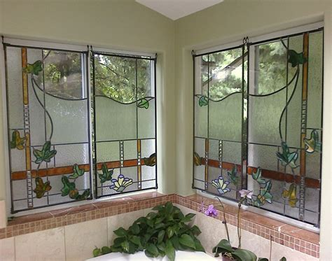 stained glass bathroom window custom made stained glass bathroom windows by chuck