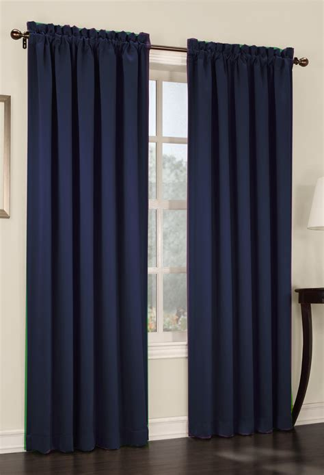 Navy Blue Curtains S Lichtenberg Room Darkening 54 X84 Panel Navy View All Curtains