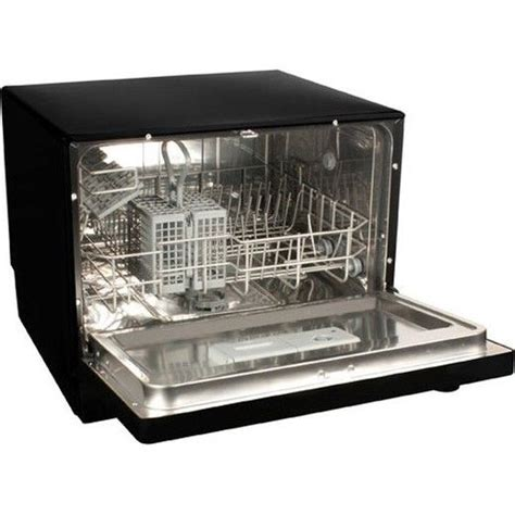portable countertop dishwasher black compact tabletop
