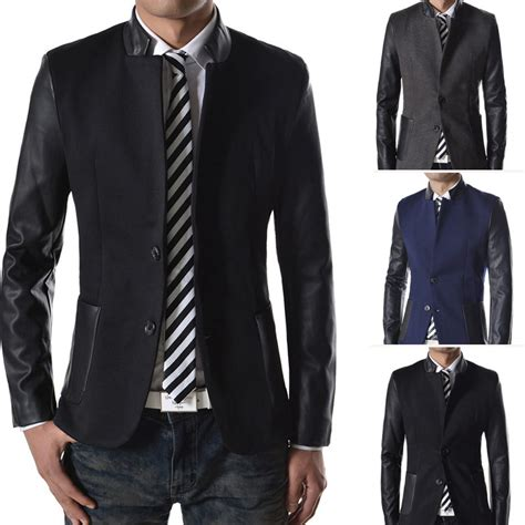 suit jacket high quality 2015 mens suits blazers splice