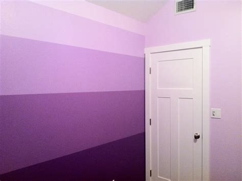 diy ombr 233 purple striped wall craftsman style door beautiful girls room that will grow with