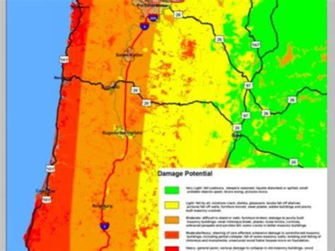 map of oregon earthquake zones earthquake 317 years since last major cascadia quake a
