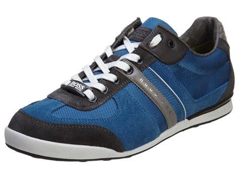 hugo sneaker shoes hugo green mens akeen leather suede shoes slip
