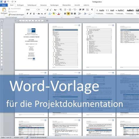 Word Vorlage Pflichtenheft Projektdokumentation Fachinformatiker Anwendungsentwicklung