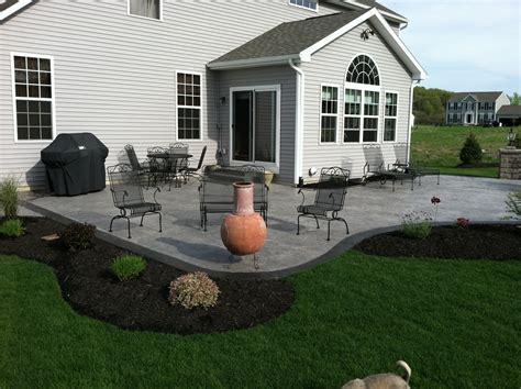 Patio Ideas On A Hill Sted Concrete Patio Decorative Concrete Patio