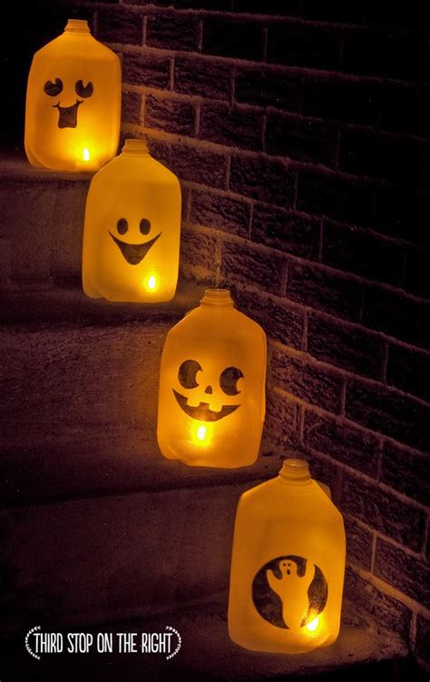 kids halloween craft cute ghost milk jug easy 1000 ideas about halloween milk jugs on pinterest milk