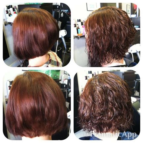 before and after of perms on thin hair a line haircut before after perm hair by me