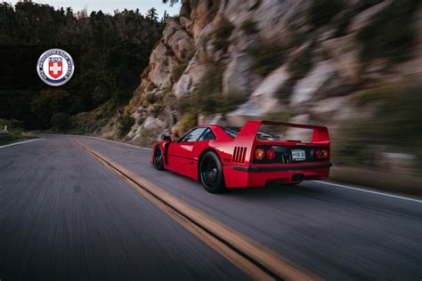 f40 wheels f40 strikes a pose with hre wheels carscoops