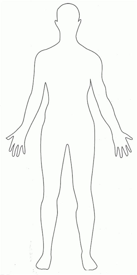 human figure template printable outline of person coloring page coloring home