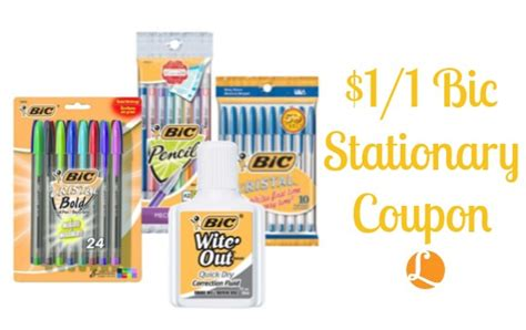 printable stationery coupons bic stationery coupon 1 1 bic stationery coupon living
