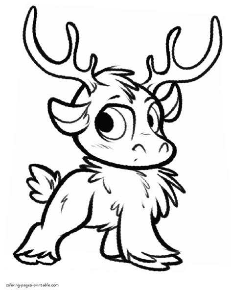 frozen sven coloring pages kidsonroll coloring page website