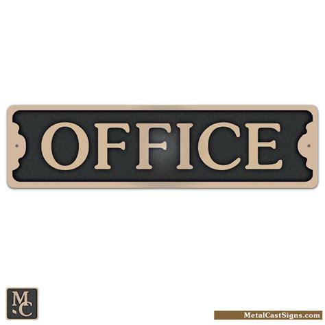 office 7 5 quot bronze door sign metal cast sign co