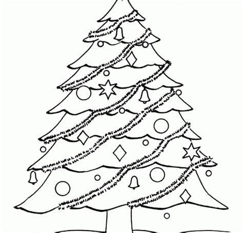 blank christmas tree coloring pages hd printable